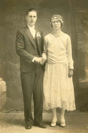 image of restored old wedding photo