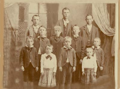 image of restored family group photo